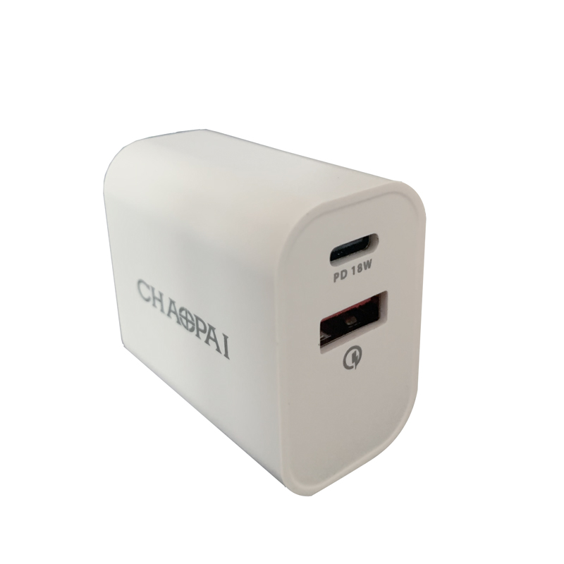Two port wall charger 18W & QC3.0 USB AM